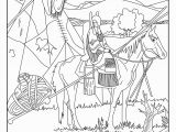 Native American Coloring Pages for Preschoolers This Coloring Page Show A Native American On His Horse