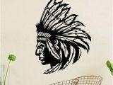 Native American Wall Murals Dctop Native American Indian Chief Wall Decal Art Decor Sticker
