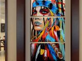 Native American Wall Murals Sacred Indian Native American Limited Edition 3 Piece Wall Art Canvas
