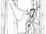 Nativity Coloring Page Lds Mary and the Angel