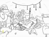 Nativity Coloring Pages for Sunday School Nativity Jesus Born In Bethlehem In Nativity Coloring Page