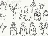 Nativity Scene Coloring Pages Printable Free Manger Animals Coloring Pages Coloring Home