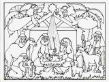 Nativity Scene Coloring Pages Printable Free Serendipity Hollow Nativity Coloring Book Page