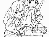 Nativity Scene Coloring Pages Printable Free Xmas Coloring Pages