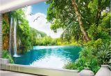 Nature 3d Wall Murals Mural Wallpaper Waterfall Nature Landscape