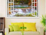 Nature Murals for Walls 3d Window View Wall Sticker Decal Sticker Home Decor Living Room