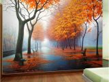 Nature Scene Wall Murals Customized Wallpaper 3d Autumn Maple Leaf Natural Scene Wall