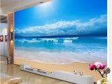 Nature Wall Mural Paintings Custom 3d Wallpaper Sea View Wall Painting Living Room sofa