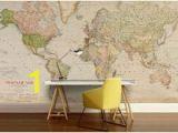 Nautical Map Wall Mural 60 Best World Map Wallpaper Images