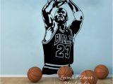 Nba Wall Murals Chicago Bulls Michael Jordan Wall Sticker Living Room Nba Basketball