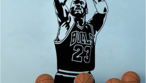 Nba Wall Murals Chicago Bulls Michael Jordan Wall Sticker Living Room Nba Basketball