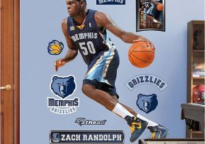 Nba Wall Murals Fathead Memphis Grizzlies Zach Randolph Wall Decals Multicolor