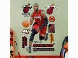 Nba Wall Murals Fathead Miami Heat Dwyane Wade Wall Decals Multicolor