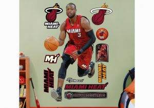 Nba Wall Murals Fathead Miami Heat Dwyane Wade Wall Decals Multicolor
