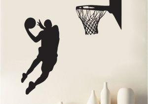Nba Wall Murals Heißer Wirkenden Kühle Wand Aufkleber Slam Dunk Basketball Wandbild
