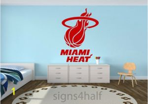 Nba Wall Murals Removable Miami Heat Basketball Team Wall Art Decor Decal Vinyl