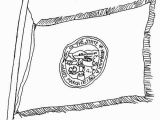 Nebraska Flag Coloring Page Nebraska State Flag Coloring Page
