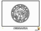 Nebraska Flag Coloring Page Noble Usa Flags Printables State Flags Nebraska Wyoming Territories