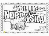 Nebraska State Flag Coloring Page Nebraska State Stamp Coloring Page Usa Coloring Pages