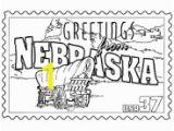 Nebraska State Flag Coloring Page Usa Printables State Of Nebraska Coloring Pages Nebraska