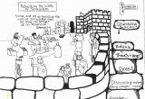 Nehemiah Builds the Wall Coloring Page Nehemiah Builds the Wall Coloring Page