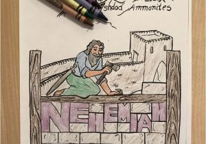 Nehemiah Builds the Wall Coloring Page Nehemiah Coloring Page – Children S Ministry Deals