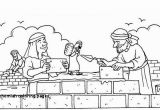 Nehemiah Builds the Wall Coloring Page Nehemiah Coloring Pages Nehemiah and the Wall Sunday School Lessons