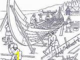 Nephi Builds A Ship Coloring Page Viking Ship Out Of Cereal Box norway for Kids Pinterest