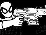 Nerf Blaster Coloring Page Nerf Guns Coloring Pages