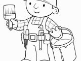 New Bob the Builder Coloring Pages Bob the Builder and Paintbrish Coloring Page