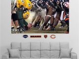 New England Patriots Wall Mural Fathead Chicago Green Bay Line Of Scrimmage Wall Graphic