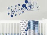 New England Patriots Wall Mural Mickey Mouse Head Ears Vinyl Sticker Nursery Baby Room Decor