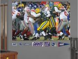 New England Patriots Wall Mural New York Giants Playoff Defense In Your Face Mural