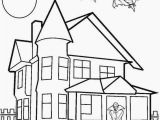 New House Coloring Pages Printable Haunted House Coloring Pages