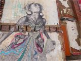 New orleans Wall Mural New York Street and Installation Artist Swoon Uses Humanity