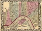 New orleans Wall Murals New orleans La 1880 Map