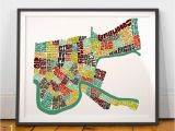 New orleans Wall Murals New orleans Neighborhood Map Art Print New orleans Wall