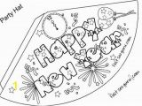 New Year S Eve Coloring Pages Free Printable Print Out Happy New Year Party Hat Coloring for Kids