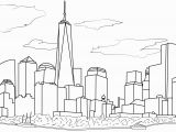 New York City Skyline Coloring Pages United States Coloring Pages for Adults