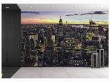 New York City Wall Mural Wall26 New York City Skyline with Urban Skyscrapers at Sunset Usa Removable Wall Mural