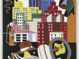 New York Mural Stuart Davis Beautiful Empire State Building Artwork for Sale Posters and Prints