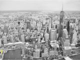 New York Skyline Mural Black and White Dining Room Wall Murals