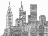 New York Skyline Mural Black and White for New York City Skyline Black and White Illustration