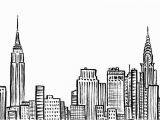 New York Skyline Mural Black and White New York City Skyline Nyc Empire State Chrystler Building Ink