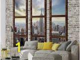 New York Skyline Window Wall Mural 46 Best Window Mural Images