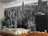 New York Skyline Window Wall Mural New York City Skyline Black White Wallpaper Wall Mural