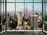 New York Skyline Window Wall Mural New York Skyline Wallpaper Mural Wallpapersafari