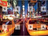 New York Taxi Wall Mural Fototapete Tapete New York Times Square Taxi Bei Europosters