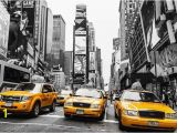 New York Taxi Wall Mural Niestandardowe Pł³tno Decoals New York Ścianie Plakat Ny Ulicy Taxi