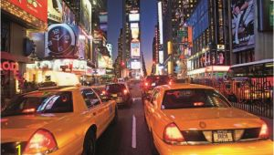 New York Times Square Wall Mural Fototapete Tapete New York Times Square Taxi Bei Europosters Kostenloser Versand